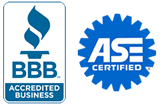 BBB Accredited, ASE Certified