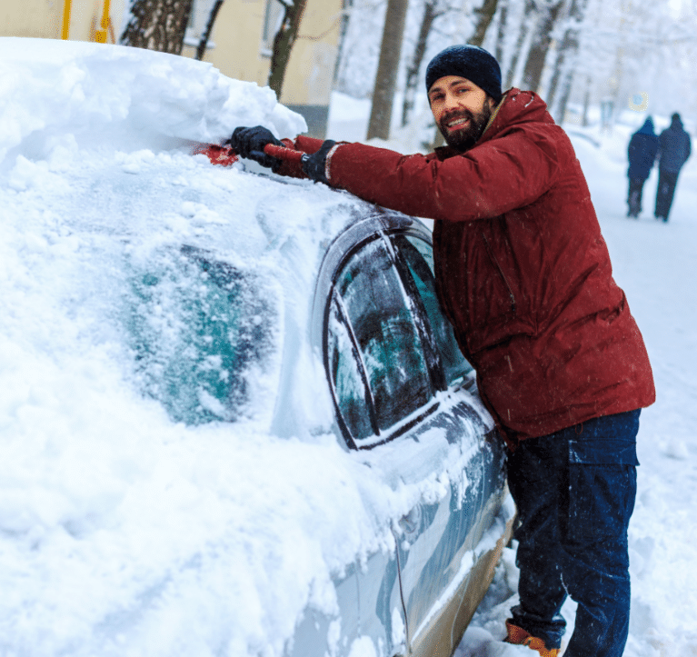 Clearing Snow off Your Car